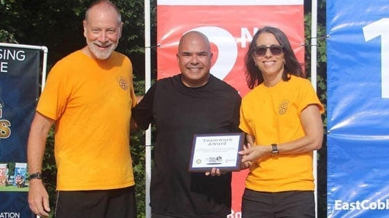 Marietta Cosmetic Dentist Dr. Patel Honored with Teamwork Award at 2018 Dog Days 5K